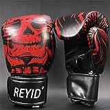 Ziyi Guantes de Boxeo Masculino y Femenino Adulto Niños Formación Profesional Sanda Boxeo Muay Thai Fighting Fighting Guantes Sandbag,Rojo