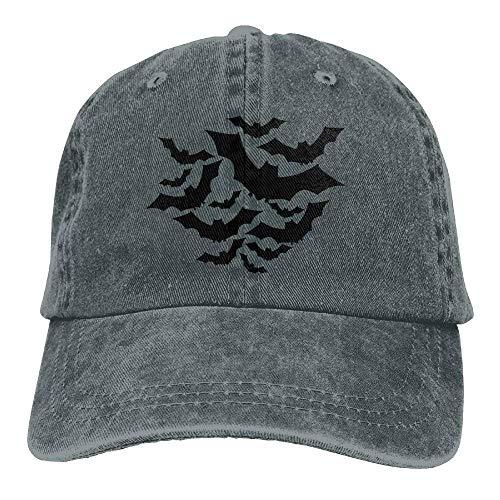 A Group of Black Bats Denim Hat Adjustable Men Low Baseball Caps