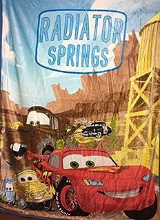 Disney Pixar Cars Radiador Springs seda Touch Sherpa Borrego manta doble tamaño 60