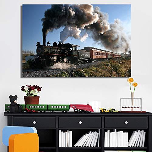 Klassieke stoomlocomotieven posters en prints muurkunst canvas schilderij trein decoratie afbeelding voor de woonkamer decoratie zonder lijst