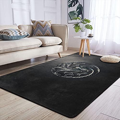 Game Thrones - Alfombra antideslizante para sala de estar, dormitorio, decoración del hogar, 84 x 60 pulgadas, interior y exterior