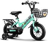 YLJYJ Bicicletas Plegables para niños, con Canasta, Bicicleta Plegable para niños, Bicicleta de cercanías recorridos por Carretera o Camino de Tierra