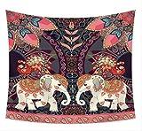 Tapices de elefante para meditación espiritual