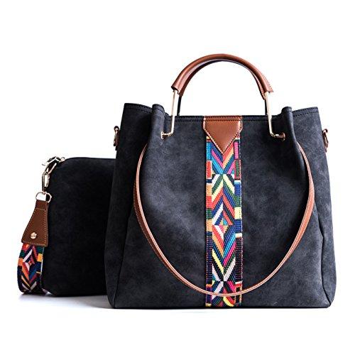 TIBES Femmes sac à main Porte-monnaie en cuir...