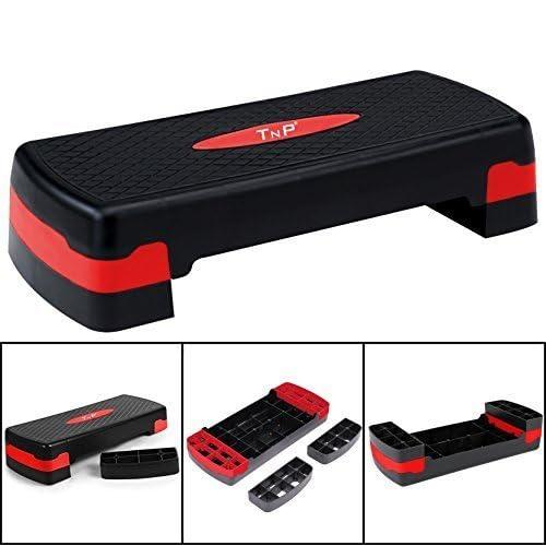 TNP Accessories® Aerobic Stepper Step Steps Exercise Cardio Gym Yoga Home Workout Pilates Platform Adjustable Step Board Fitness High