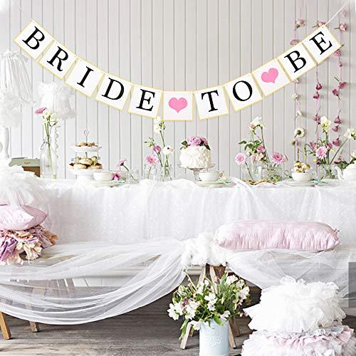 MEJOSER Bride to Be Bandiere Ghirlanda Striscione Bunting Banner Bandierine Decorazione Addio al Nubilato Matrimonio Nozze Festa Fotografia