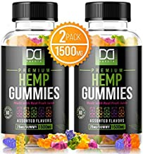 Hemp Oil Gummies for Pain Stress Relief, Anxiety, Relaxing Restful Sleep Immune Support for Adults Kids - Natural Calm Premium Hemp Extract Mood Support Gummy Bear Edibles Candy (120 Gummies | 1500mg)