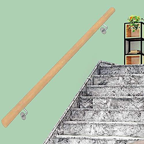FAFZ Corrimano per Scale in Legno, Asta di Supporto per Ringhiere per Scale Antiscivolo, Kit di Ringhiere per Terrazze A Soppalco per Giardino di Casa Montato A Parete, 50~600 Cm (Size : 450cm)