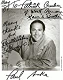 Paul Anka SINGER - SONGWRITER and ACTOR autograph, signed photo