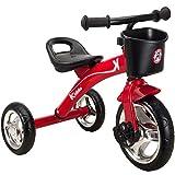 Kiddo Rouge 3 Wheeler Conception Intelligente Kids Enfant Enfants Trike Tricycle enfourchables Bike 2-5 Ans Nouveau - Rouge
