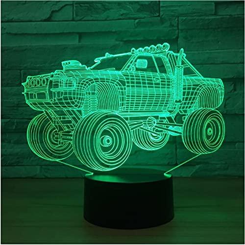 Luz de noche LED 3D 7 colores cambiantes Luz de noche visual Lámpara de mesa Interruptor táctil Luz de escritorio Regalo de fiesta