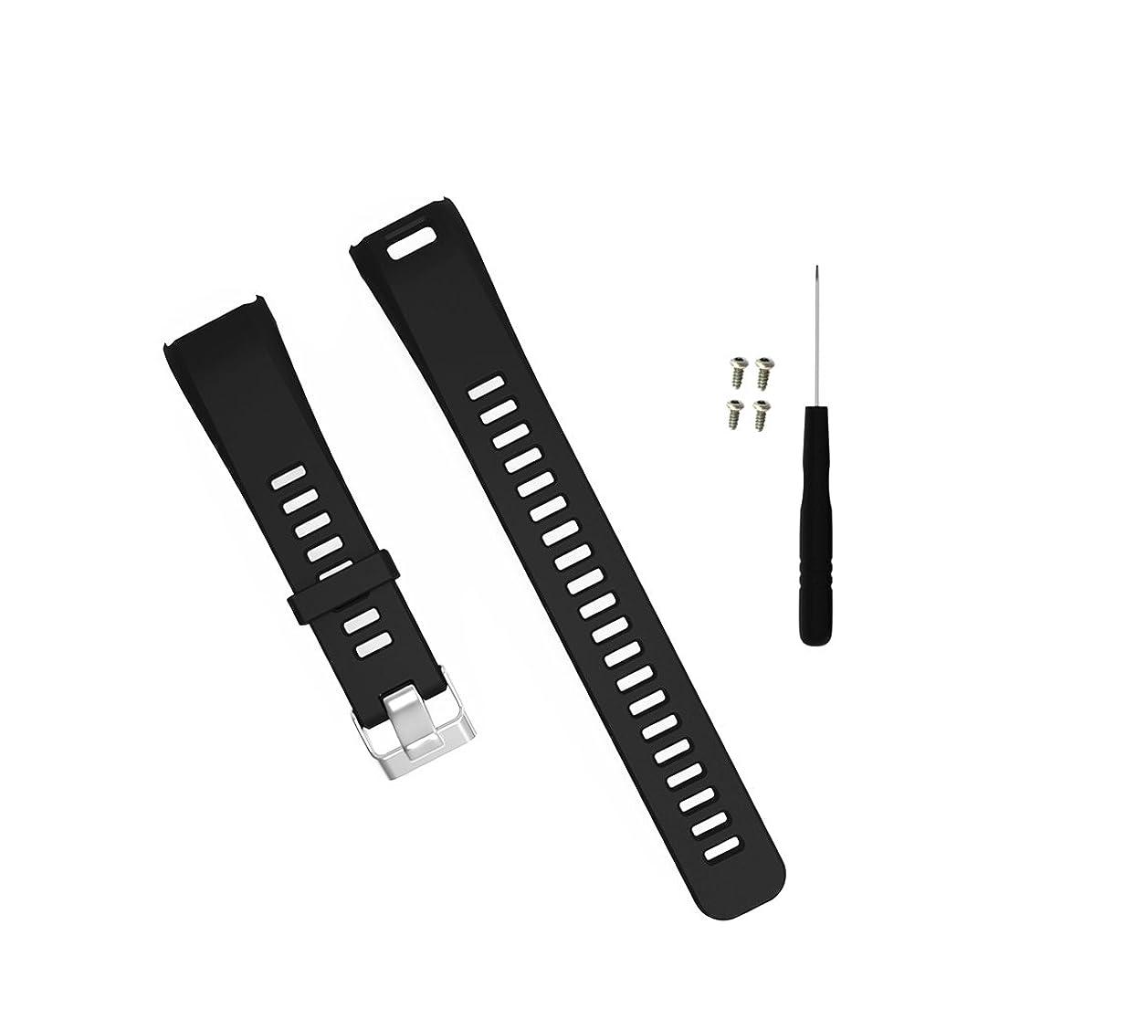 売るキャンベラネックレットXberstar Garmin vivosmart HR バンド 交換用ベルト スポーツバンド シリコン製 工具付 2サイズ 8色