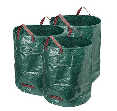 Hyindoor ガーデンバッグ ガーデンバケツ 120L 収穫袋 収穫バッグ 収草袋 自立式 折り畳み お庭の清掃 ごみ落ち葉の処理用 園芸 収納専用バッグ 3pcs