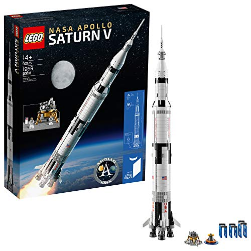 LEGO Ideas NASA Apollo Saturn V 21309 Outer Space Model Rocket for Kids and Adults, Science Building Kit