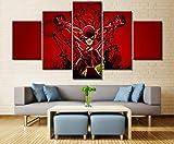 NVSHENY-LOVED Wand decor5 Stück Leinwand Kunst Flash