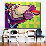 KWzEQ Leinwanddrucke Butterkopf Tiere Wandplakate und Hausdekoration für Wohnzimmer70x95cmRahmenlose Malerei