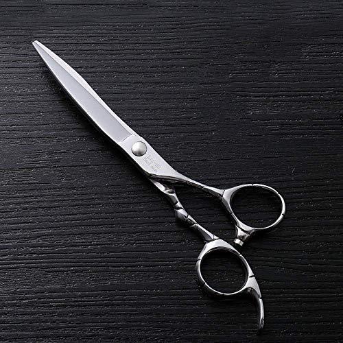 N/ A Ciseaux de Coupe de Cheveux, Ciseaux de Coiffure Plats Haut de Gamme en Acier Inoxydable Haut de Gamme à Cisaillement Plat de 6 Pouces