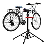 amzdeal Supporto Cavalletto per Bicicletta 115-170CM Riparazione Manutenzione Bici 4 Gambe capacità di Carico 50kg Girevole in 360° Bike Stand con Il Vassoio degli Attrezzi (115-170CM)