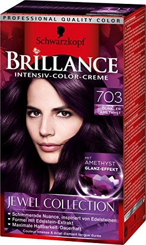 Brillance Intensiv-Color-Creme 703 Dunkler Amethyst Jewel Collection, 3er Pack (3 x 143 ml)