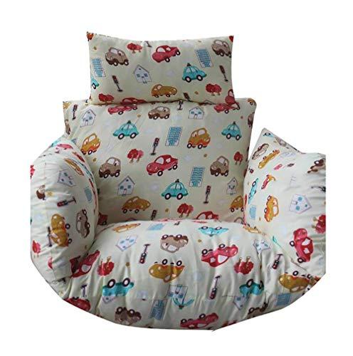 Coussins Chaise hamac Suspendus, Dossier Chaise Suspendue en Coton Forme nid épaissi avec Oreiller Mini canapé la Maison, extérieur