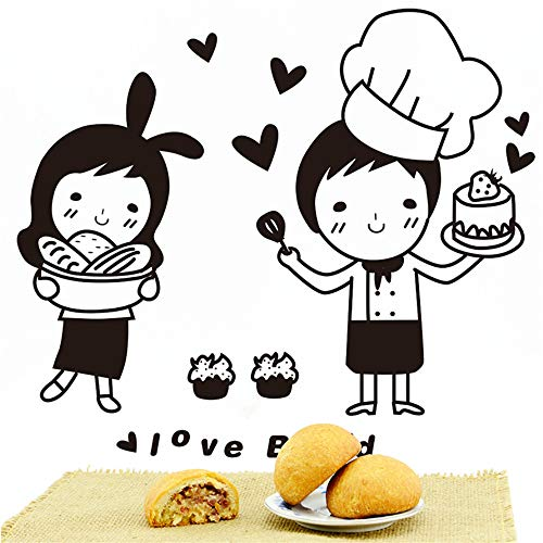 Zlxzlx Chefs Muursticker Keukenpatroon Japanse Snoepjes Voedsel Sticker voor Cafe Keuken Decoratie Huishoudelijke muursticker