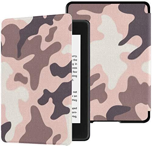 Nuevo Kindle Paperwhite Funda de Tela Segura para el Agua (décima generación, Lanzamiento de 2018), Funda de Tableta Vector Trendy Camo Pattern