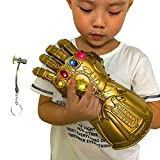 Aokairuisi Infinity Gauntlet Glove for Kids, Iron Man Glove LED Light up with Removable Magnet Infinity Stones-3 Flash Mode.