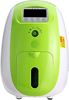 TTLIFE Portable O2 Generator Machine 1-5L/min Home Travel Air Purifier Work Silent 110V (Green)