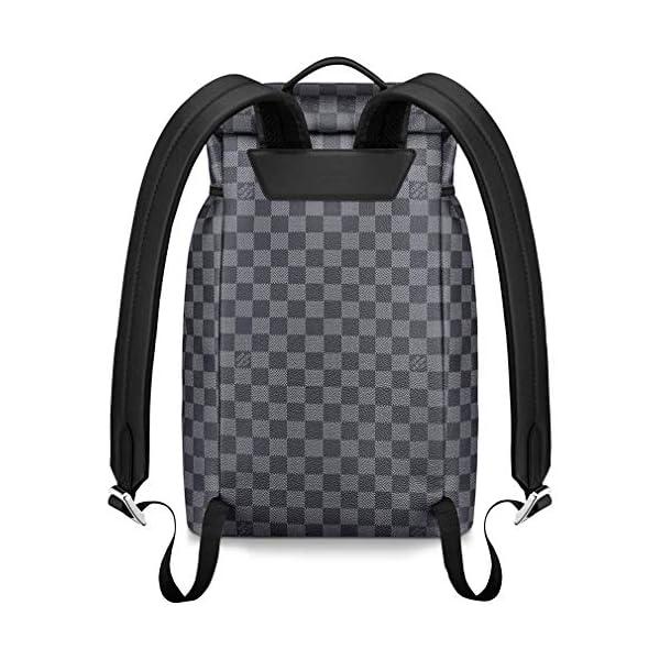 [category] Louis Vuitton Damier Graphite Canvas Zack Backpack Handbag Article: