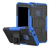 LFDZ Huawei P10 Lite Custodia, Resistente alle Cadute Armatura Robusta Custodia Shockproof Protective Case Cover per Huawei P10 Lite Smartphone (con 4in1 Regalo impacchettato),Blu