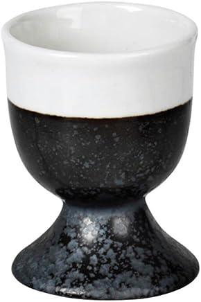 Preisvergleich für Broste Copenhagen Esrum Eierbecher schwarz / creme skandinavisches Design nordisch Eierhalter Eierständer spülmaschinengeeignet Ostern Ostertisch Frühstücksei