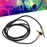 Semiter Cable Auxiliar Enchufe de 3,5 mm 3 mm OD 1,5 M de Longitud Cable de Auriculares, con micrófono Macho a Macho Negro para Sony mdr-10r / 1A