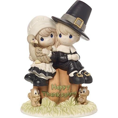 Thanksgiving Couple Bisque Porcelain Figurine