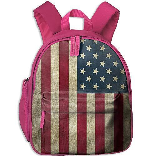 Yuanmeiju Bandera Americana Estudiante Mochilas Escolares Pies Super Bookbag