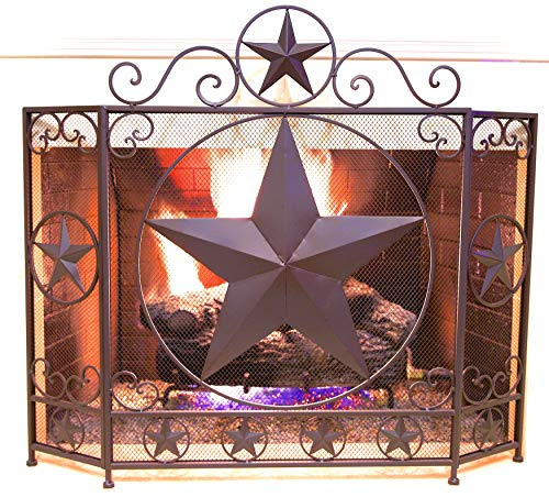 fireplace metal screen - 8