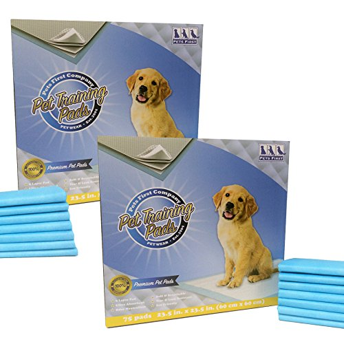 Premium Large Dog Training Pads (150 Count) Newest Upgraded 2020 Version - Most Absorbent Puppy Pads. Latest Tech Dog Pee Pads Rated Best Dog Urine Pads