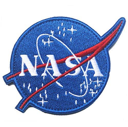 Set di 6 NASA Patch Toppa Ricamata da Applicare con Ferro da Stiro o Cucitura NASA Toppe Ricamate termoadesive per Giacca Jeans cap Logo NASA