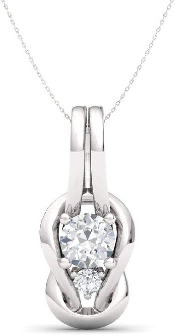 Diamondere Natural and Certified K Diamond Translated Spring new work Infinity Gemstone