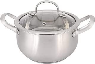 Milk Pot Stainless Steel Double Ear Soup Pot Soup Cooker Hot Pot Cooking Pot Set for Home Coffee Shop Restaurant