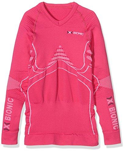 X-Bionic t-Shirt imperméable pour Adulte en Junior Accumulator UW LG SL Multicolore Rose/Blanc 8/9