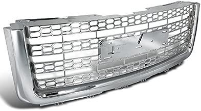 Spec-D Tuning HG-GMC07CV2 GMC Sierra Denali Chrome Mesh Honeycomb Upper Front Grill Grille