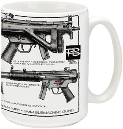 Cuppa Second Amendment Rights 15 Ounce Coffee Mug with HK MP5 s product image