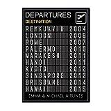 ZHJJD Personalisierte Reise Poster schwarz-weiß