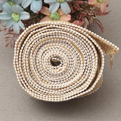 Asoaso 1m Decorative Pearl Linen Ribbon Roll Natural Twine - Ribbon Decoration Decorations Twine Party Decorations Cotton Linen Ribbon Garland Pearl Yard Trim Fabric Chain
