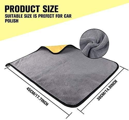 2x Microfibra Toalla de secado coche extra grande detallando Paño De Pulido Super absorber