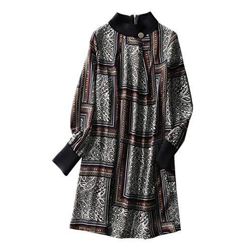 BINGQZ Cocktail Jurken 2019 lente nieuwe vrouwen chiffon print jurk vrouwelijke losse casual jurk