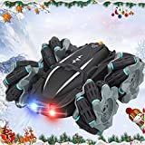 Pasobass Remote Control Car, Rc Cars Rc Stunt Car for Kids Boys Girls, 4Wd 2.4 Ghz Rc Drift Cars 360 Rotating 180 Flipping Rechargeable Racing Car Off Road Toy for Birthday Xmas New Year