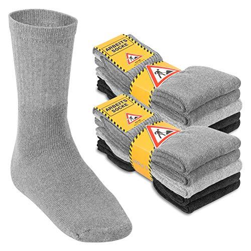 Footstar Herren Arbeitssocken (10 Paar), Robuste Socken mit Frottee-Polsterung - Mix 39-42