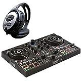 Hercules DJ Control Inpulse 200 - Controlador de DJ (2 cubiertas, incluye auriculares Keepdrum)