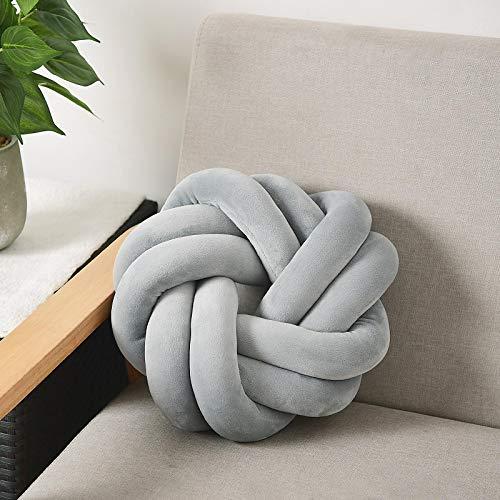 GSDJU Cuscino Tessuto a Mano Nordico Cuscino Morbido e Confortevole Tappetino con Nodo sferico Cuscino per Poltrona Cuscino per Sedia Fotografia Puntelli Decorazioni per la casa